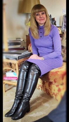70s Fashion, Fashion Boots, Fashion Outfits, Womens Fashion, Leather High Heel Boots, Leather Riding Boots, Vintage Boots, Vintage Outfits, Womens Thigh High Boots