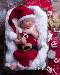 a534506ba3b Newborn Baby Boys Girls Christmas Santa Claus Knit Hat Trousers Photography  Prop  fashion  clothing  shoes  accessories  babytoddle…