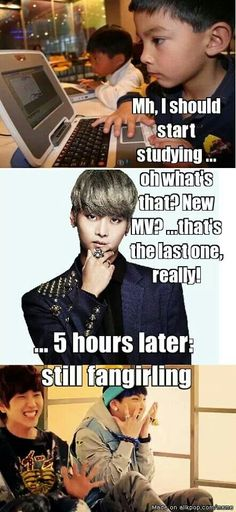 So true haha dat was me yesterday with molecular genetics final and i was fangirling over lonely B1A4