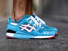 "PYS x Asics Gel Lyte III ""Teal Dragon"" -Chubster favourite ! - shoes for men - chaussures pour homme - Nike Roshe Run - Triple Black - Sneakers Mode, Classic Sneakers, Sneakers Fashion, Men Sneakers, Asics Shoes, Men's Shoes, Shoe Boots, Nike Shoes, Ankle Boots"