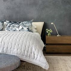Top 5 Inexpensive Bedroom ideas A quiet moment with nothing but warm textures. The master bedroom at carries the plaster. Master Bedroom, Bedroom Decor, Bedroom Ideas, Quiet Moments, Comforters, Family Room, Throw Pillows, In This Moment, Warm