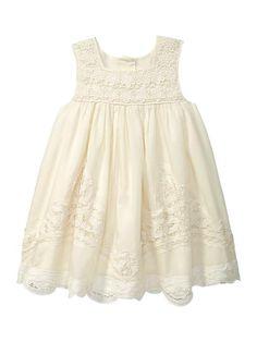 Love this little girls dress!  Gap | Crochet overlay dress