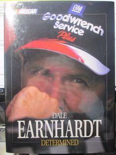 NASCAR Dale Earnhardt SR Determined Hardcover Book 1998 Car Racing Biography