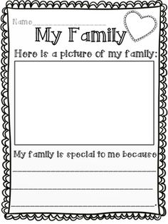 My family is special by Kathryn's Kreations | Teachers Pay Teachers