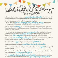 Wholehearted Parenting manifesto