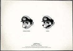 'moustaches make a difference' ad campaign: supermario
