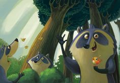 I'm racoon (children's book) on Behance