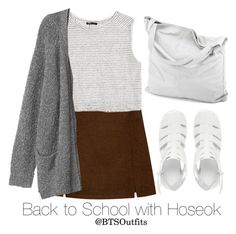"""""""Back to School with Hoseok"""" by btsoutfits ❤ liked on Polyvore featuring MANGO, Monki, chissene and ASOS"""