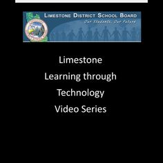 Learning Through Technology Video Series. Made with Shadow Puppet.  Download free on the App Store.
