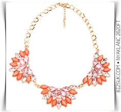 #pink #orange #necklace #bizsukcom