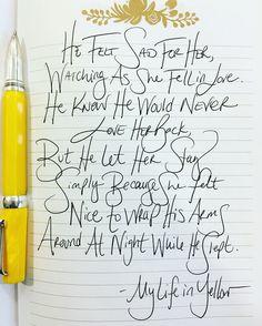 #quote #poem #yellow