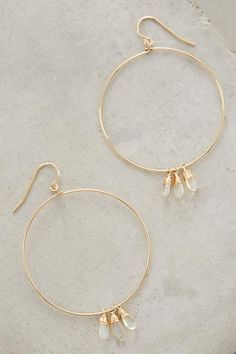 Opal Fringed Hoops - anthropologie.com
