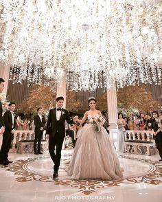 Fairytale wedding come true // Glenn Alinskie and Chelsea Olivia's enchanted garden ballroom wedding