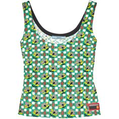 Prada Printed cloqué top (39.970 RUB) ❤ liked on Polyvore featuring tops, green, prada, mixed print top, green floral top, patterned tops and multi color tops