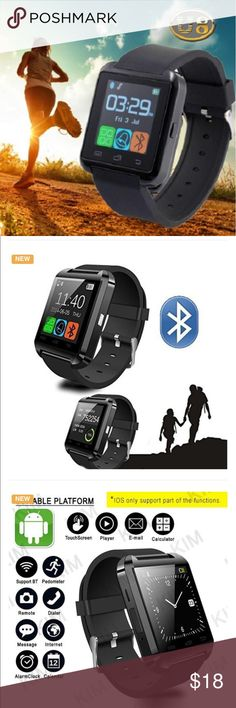 Smart Watch for Android Samsung Black Bluetooth Watch Smart Wristwatch Phone for Smartphones Android Samsung S2/s3/s4/s5/note 2/note 3 HTC                                                    1. Can dial phone numbers.   2. phonebook synchronization. 3. When the phone rings, the watch rings or vibrate and display the caller's telephone number.   4. Anti- lost function when the smartphone off.  5. SMS Sync Android when the text comes will remind and view.  6. The built-in style speakerphone…