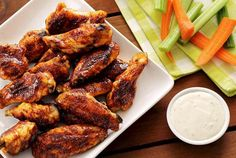 Spicy & Sweet Chipotle-Honey Baked Chicken Wings | Paleo Newbie