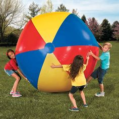 The biggest in inflatable fun! This giant beach ball will be a smash hit for park adventures, beach bashes and afternoons at the playground. Outdoor Games, Outdoor Fun, Outdoor Activities, Beach Ball Games, Summer Camp Games, Summer Party Themes, Summer Parties, Tea Parties, Party Ideas