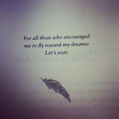 Beautiful book dedication