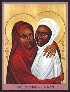 The two African Saints Perpetua and Felicitas are celebrated on their feast day of March 7th.