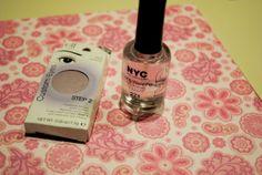 DIY nail polish: eye shadow ground up into clear polish ... who knew!.
