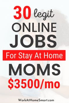 Are you a stay at home mom looking for ways to make money online? If yes, be sure to grab this list of legit work from home jobs for moms and women. Legit Work From Home, Legitimate Work From Home, Work From Home Jobs, Way To Make Money, Make Money Online, Legit Online Jobs, Work From Home Companies, Stay At Home Mom, Women