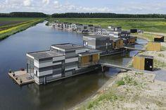 CPO with floating houseboats in Lelystad - waterloft.nl : waterloft.nl