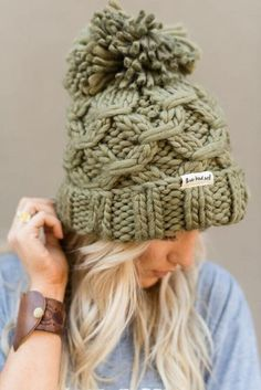 afcdbc39407 Chunky knitted beanie. Three Bird Nest fireside HOMESPUN knitted collection  of cozy winter time favorites