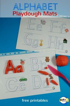 Free Printable Alphabet Playdough Mats - Kidz Activities