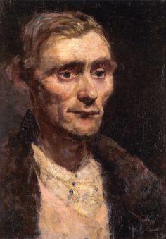 Edvard Munch - 1883, Study of a Man's Head