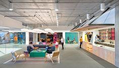 """Diseñadas por O+A, las oficinas de Cisco en San Francisco ofrecen a los trabajadores una """"topografía"""" variada. (Fotos de Jasper Sanidad)"""