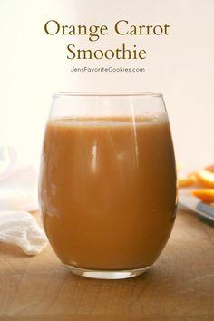 Orange Carrot Smoothie from JensFavoriteCookies.com - drink your veggies!