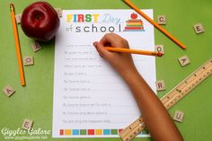 Back to School Interview Printable {Free Download} - Giggles Galore