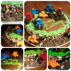 Construction cake for twins birthday! Besties working together to make this!