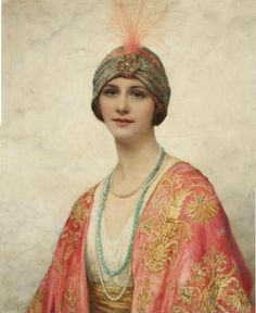 William Clarke Wontner (British 1857-1930)A beauty in Eastern costume