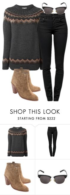 """Sin título #168"" by lavandar ❤ liked on Polyvore featuring RED Valentino, Proenza Schouler, Ash and Yves Saint Laurent"