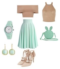 """Mint Condition"" by lacylace007 on Polyvore featuring Chicwish, Topshop, Clyda and Monet"