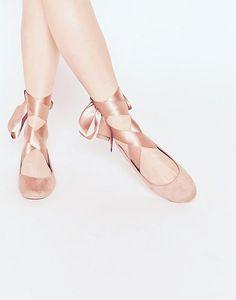 Mädchen spot on Flache Slipper Schnitt Ballerinas