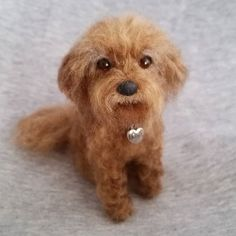 This is Mikee. It will be a birthday present to its owner. Only 4 inches tall!  #cavadoodle #cockerpoo #janetsneedlefelting #handmadewithlove #Etsy #crafts #arts #petmemorial #dogportrait #portrait #sculpture #replica #needlefelteddog #birthday #birthdaygift #狗 #可愛い #萌 #customdesign #poodle #cavapoo #cavadoodle