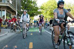 Bike Month: Ciclovia, fashion show, book swap, more. (Photo by Josh Rasmussen/American-Statesman)