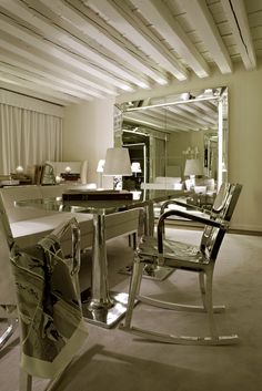 Hudson Rocking Armchair designed by Philippe Starck at Palazzina Grassi, Venice by Philippe Starck
