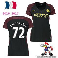 Vente Nouveau Maillot Football Manchester City Femme (IHEANACHO 72) Exterieur…