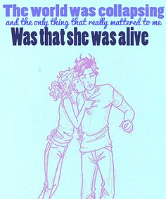 Awwwww! (Percy and Annabeth from Percy Jackson and the Olympians)