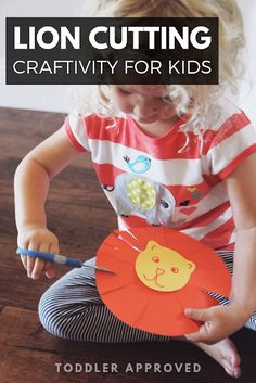 Cutting Activities For Kids, Animal Activities For Kids, Motor Skills Activities, Animal Crafts For Kids, Toddler Learning Activities, Montessori Activities, Infant Activities, Kids Learning, Africa Activities For Kids