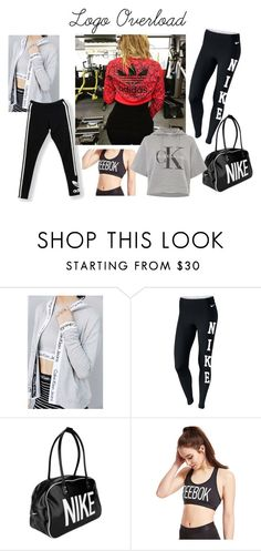 """Fitness Fashion: Logo Overload"" by fitandfabliving on Polyvore featuring Calvin Klein, NIKE, Reebok, adidas Originals, women's clothing, women's fashion, women, female, woman and misses"
