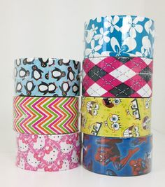 Just in today! New Duck tape featuring Spiderman, SpongeBob Squarepants and a few other fun retro and summer designs!