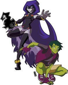 I ship Raven X Beast Boy. ._. Haters gonna hate.