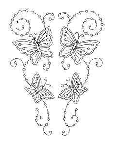 embroidery pattern - butterflies