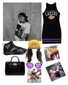 """""""Outside- Blue """" by bowen3127 ❤ liked on Polyvore featuring Forever 21, Retrò, New Era, Mulberry and RetroSuperFuture"""