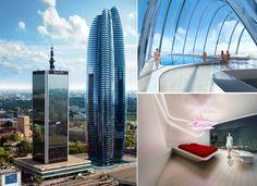 WARSAW   Lilium Tower   843 feet   71 floors  by Zaha Hadid