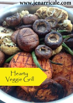 Grilled veggies are the best! I used a few clean ingredients to grill sweet potatoes, cauliflower, green beans, shrooms & red onion - all from my little RV.  #healthyrvcooking